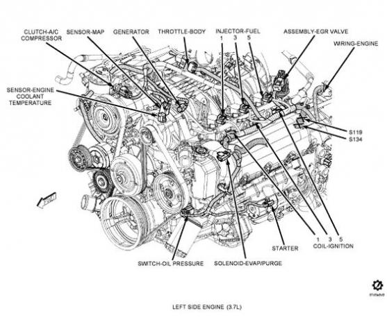 2002 jeep liberty starter diagram