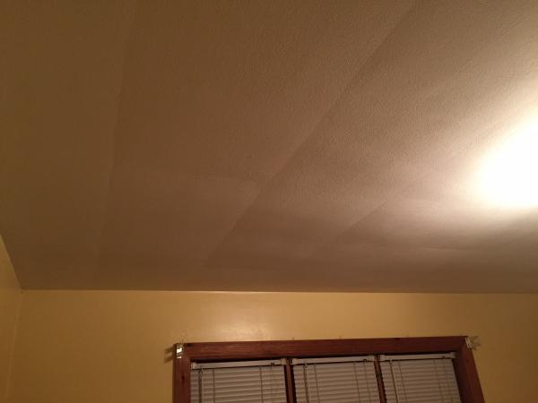 Repairing saggy drywall on ceiling and walls
