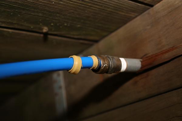 sharkbite pex tubing for outdoor garden
