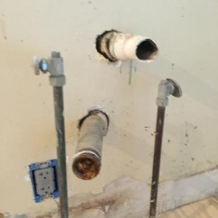 Kitchen Sink Drain Outside Island Need Help: 2 Separate Lines Under ...