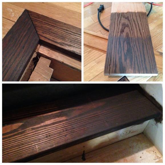 problem staining oak floor