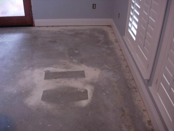 Prepping a concrete foundation for glue down hardwood