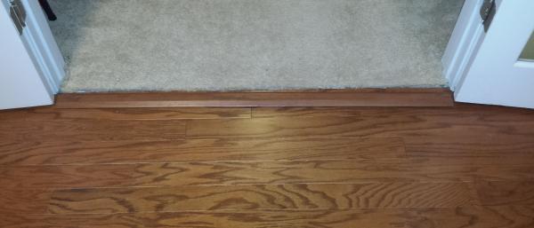 Installing transitions against carpet  DoItYourselfcom