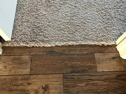 Carpet to hardwood transition?