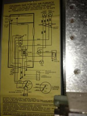 Rewiring Old Coleman Furnace for Filtrete 3M50 Thermostat  DoItYourself Community Forums