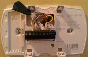 Question regarding a Honeywell Thermostat, wiring the new