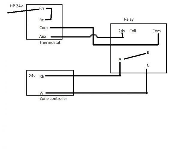 heat pump w/boiler 2 transformer thermostat wiring
