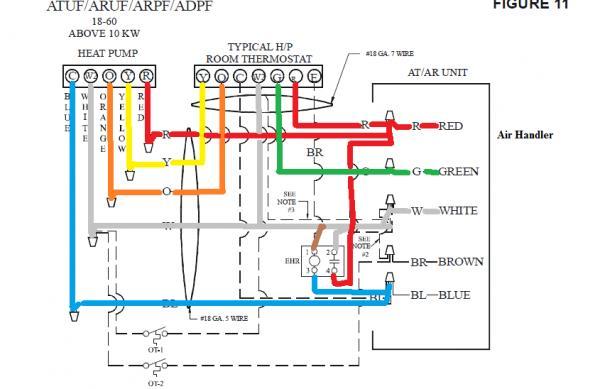 honeywell thermostat wiring diagram for goodman heat pump