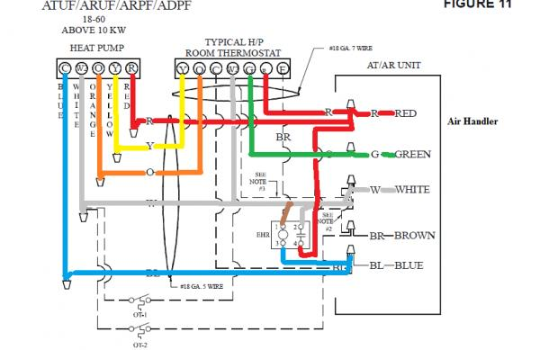 goodman electric heat wiring diagram potterton central heating programmer honeywell 7500 thermostat - no doityourself.com community forums