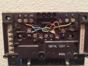 Changing from a Q674L 1207 to a 6220D thermostat  DoItYourself Community Forums