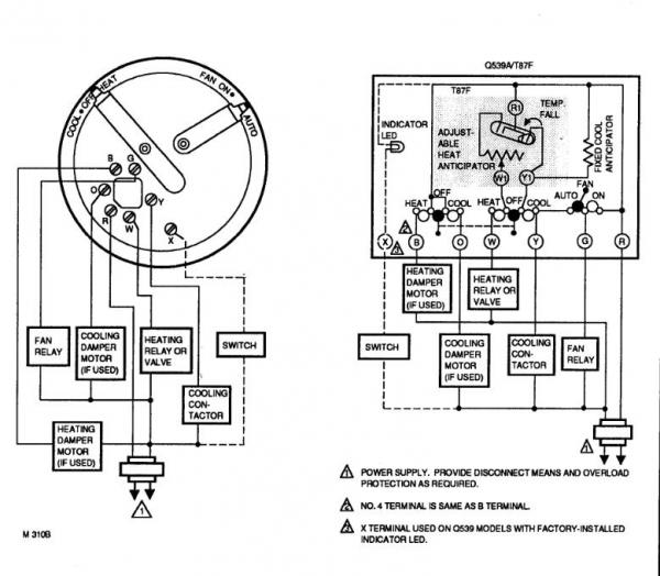 Old Honeywell Thermostat Wiring Diagram on Honeywell Thermostat Wiring Color Code