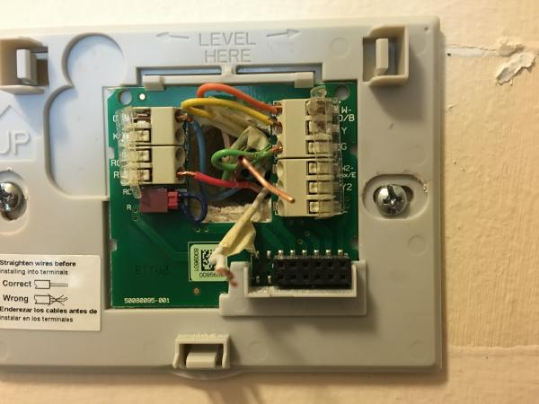2 stage thermostat wiring diagram payne furnace rth9580wf w2 and e wires? - doityourself.com community forums