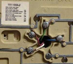 Replacing Old Honeywell Chronotherm to Honeywell WiFi Thermostat Wiring Help  DoItYourself