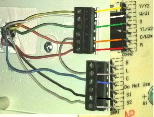 bryant heat pump wiring diagram dodge dakota 1992 need help replacing old thermostat with new honeywell rth7600, ret97 - doityourself.com ...