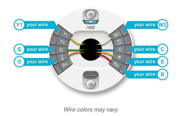 nest thermostat wiring diagram for cooling