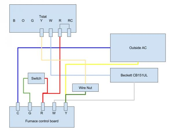 home thermostat wiring diagram standard  ceiling fan wiring