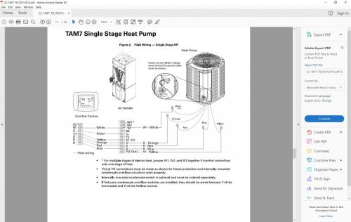 small resolution of 7 wire thermostat wiring diagram for trane