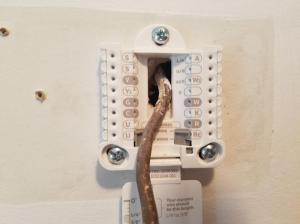 Help wiring new Honeywell from old mercury thermostat  DoItYourself Community Forums