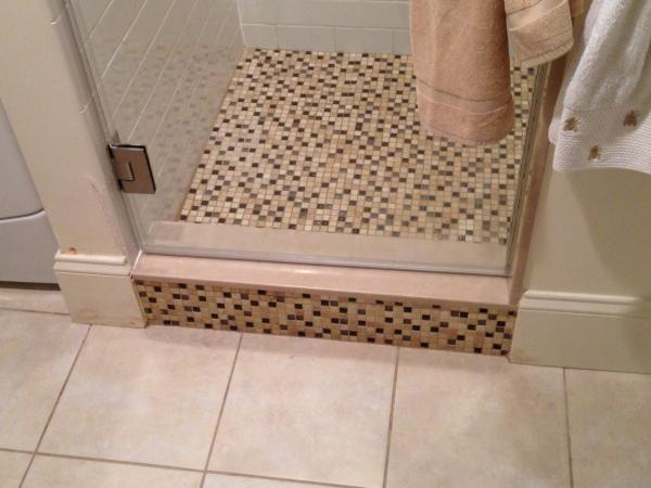 Water Damage Outside Of Shower Stall