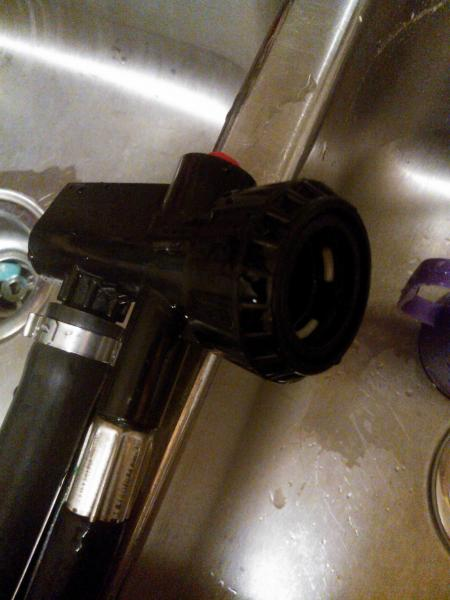 pull out kitchen faucets used cabinets ct [connecting portable washer] confused....did this guy ...