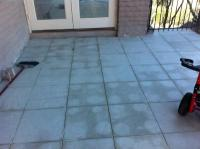 reverse (from below?) stains on yet be grouted and sealed ...