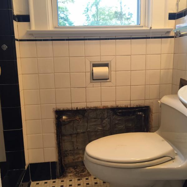 fixing tiled bathroom wall