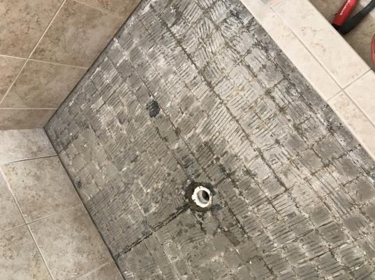 in over my head replacing shower floor