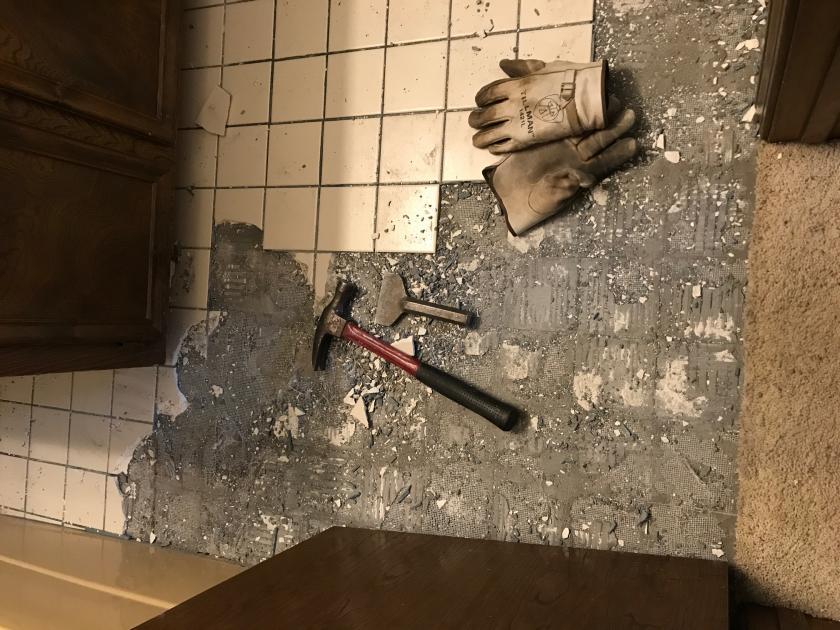 ceramic tile cement board removal