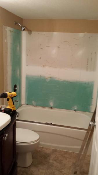 Bathroom Backsplash drywall gap  DoItYourselfcom