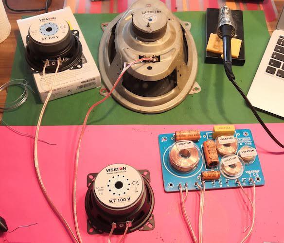 Alles fein säuberlich verlötet und bereit für den Einbau in den Raspberry, Volumio Retro Radio.