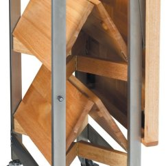 Kitchen Island Casters Hanging Towel Oasis Concepts Stainless Folding Rv - Many Uses