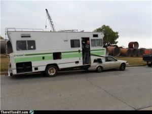 Funny RV: Convert a Motorhome into a Fifth Wheel