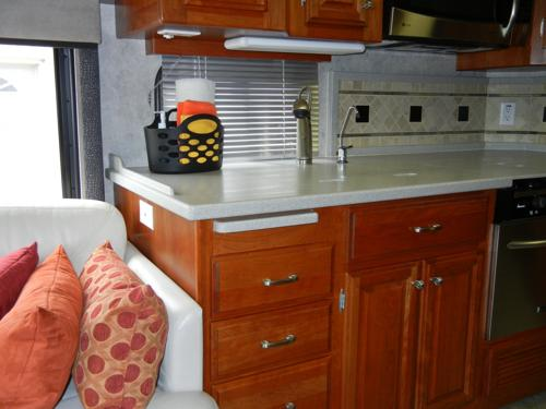 RV Countertop Extension Mod More Space Less Problems