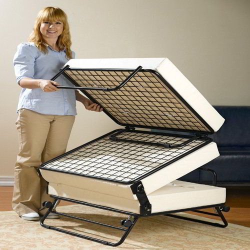 RV Ottoman That Doubles as a Memory Foam Pull Out Bed