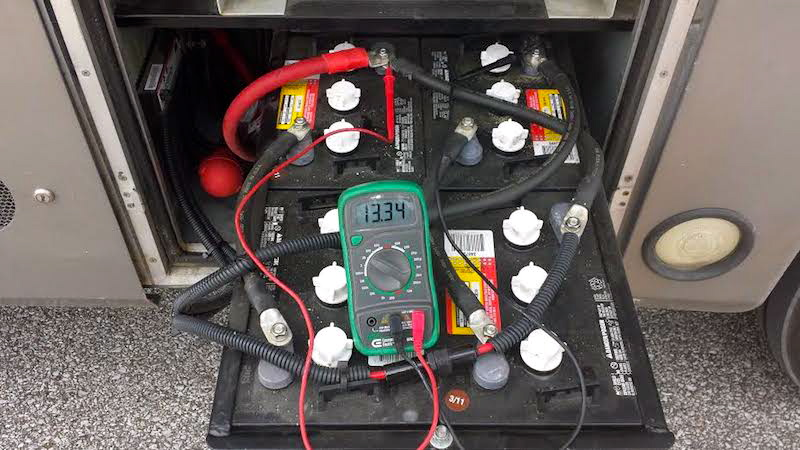 12v wiring diagram for boats apache 100cc quad how to perform open voltage testing on your rv batteries four house in series parallel a motorhome