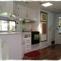 Kitchen Cabinet Faces How To Remodel A Small This Family Saved 1997 Prowler Trailer From The Grave
