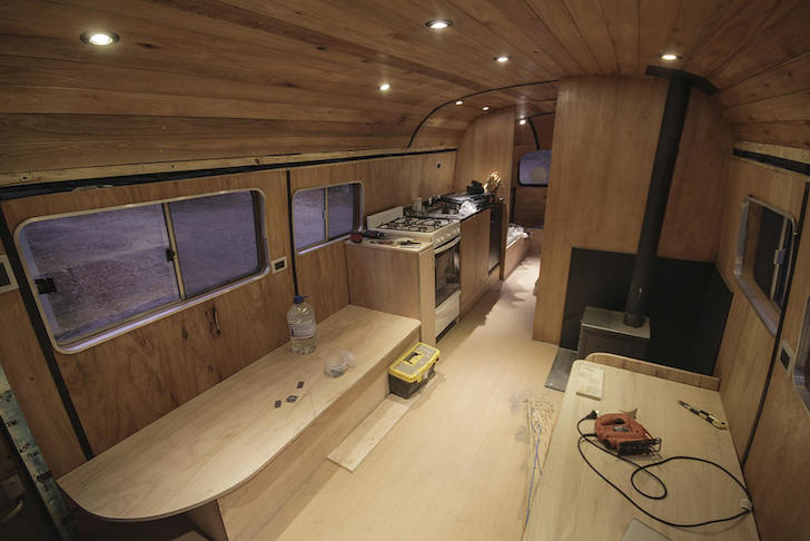 Old MercedesBenz Bus Turned Into A Mobile Ski Lodge