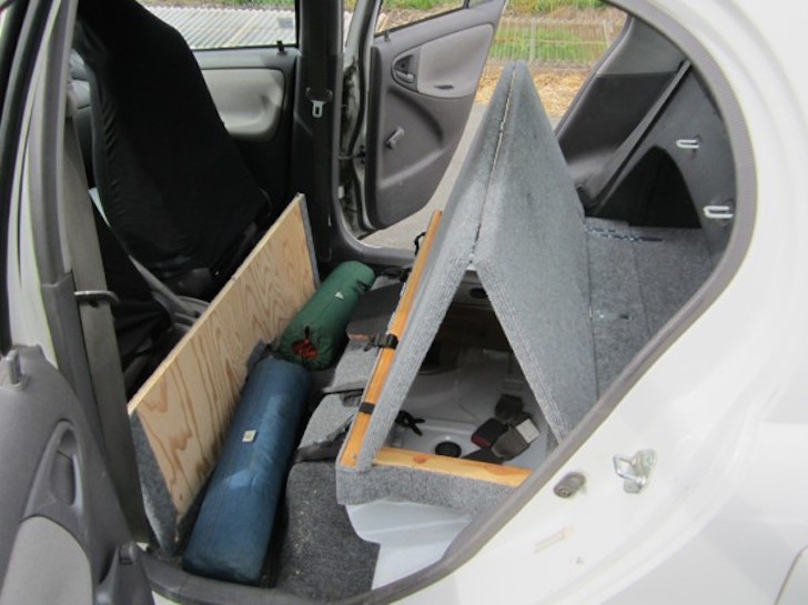 2012 Dodge Ram Trailer Wiring Car Camping Made Easy With This Folding Rear Seat Mod