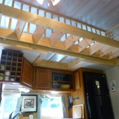 Rv Kitchen Appliances Sherwin Williams Paint For Cabinets Spectacular Travel Trailer To Tiny House Conversion