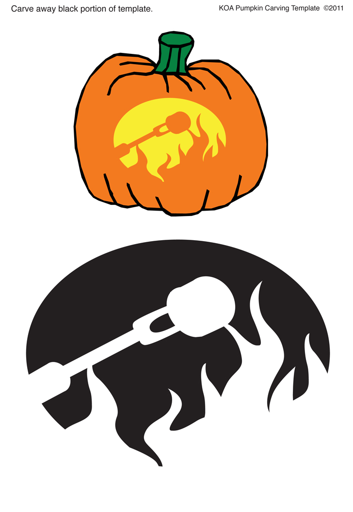 5 Camping Inspired Pumpkin Carving Templates