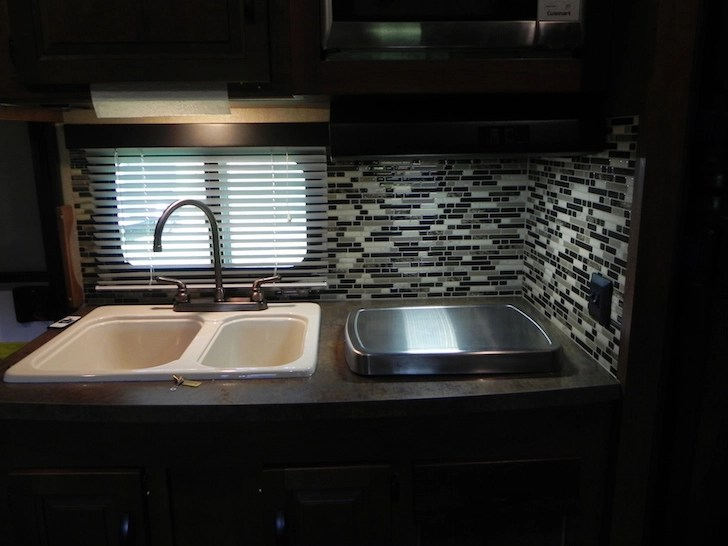 how to install backsplash in kitchen wholesale towels camper's and bathroom get adhesive tiles