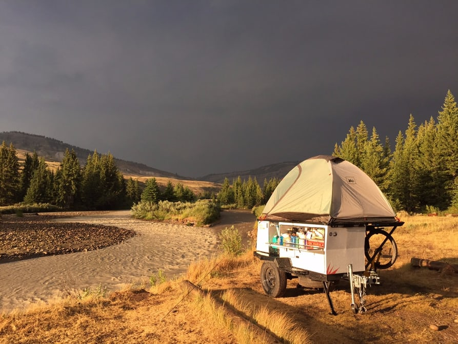 Woollybear Camper Combines Gear And Tent On A Tiny Trailer