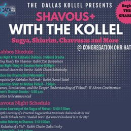 The Dallas Kollel Presents Shavuos+ with the Kollel