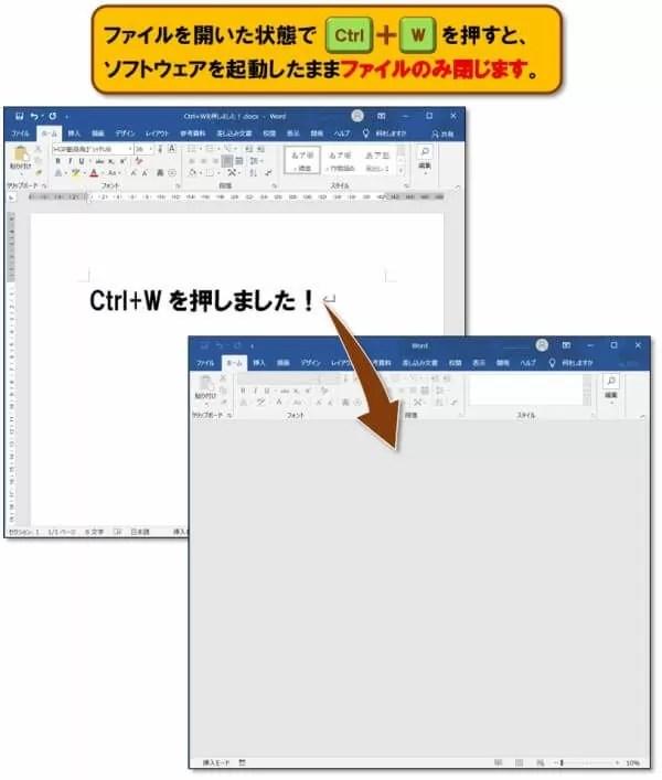 ショートカットキー【Ctrl+W】