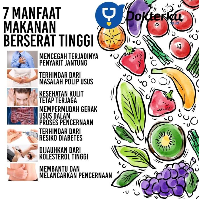 7 Manfaat Makanan Berserat Tinggi