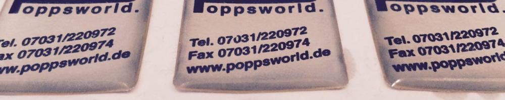 Poppsworld PC Sticker
