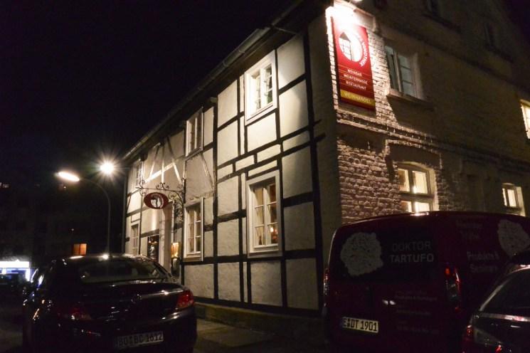 Eppendorfs Vinothek befindet sich in einem historischen Fachwerkhaus