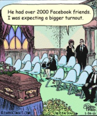 Facebook funeral