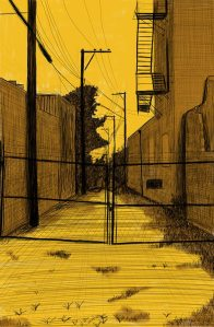 Alley Study 44 with No Access