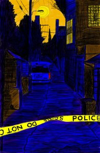 Alley Study 21 with Crime Scene